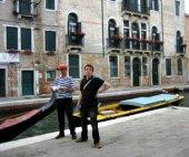 Gondel naar Venetie