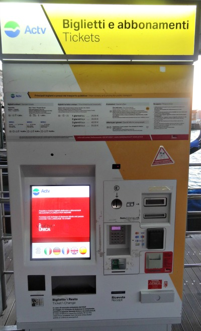 Ticketmachine ACTV Venetie
