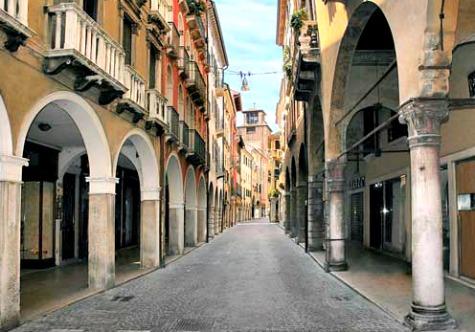 Treviso lege winkelstraat