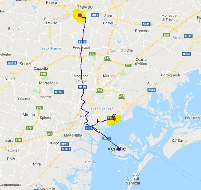 Vliegveld naar Venetie