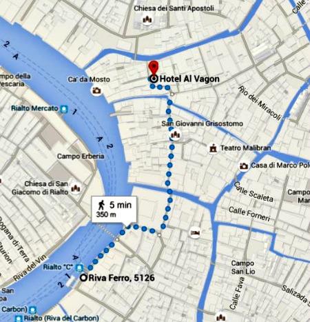 Route Venetie hotel