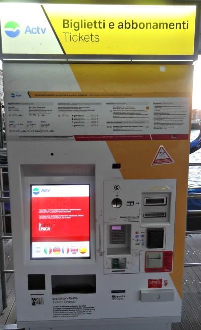 Ticketmachine Venetië Vliegveld