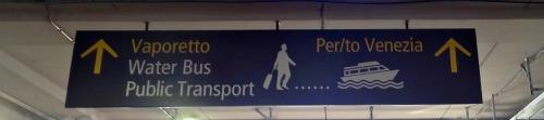 Venetie vliegveld bus
