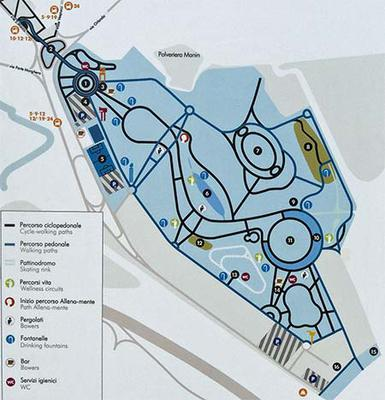 Kaart San Giuliano Park
