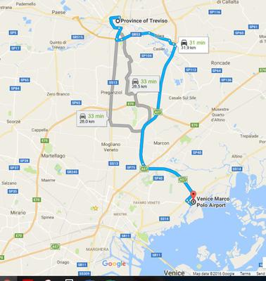 Van Marco Polo Airport met de auto naar Treviso