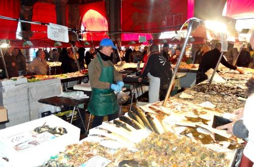 Vismarkt Venetie