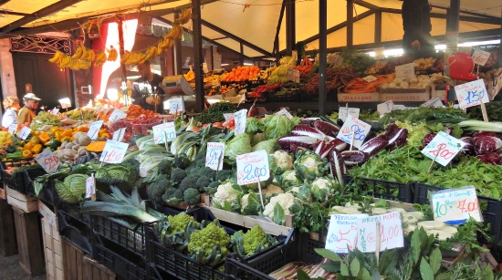 Rialto markt in de ochtend