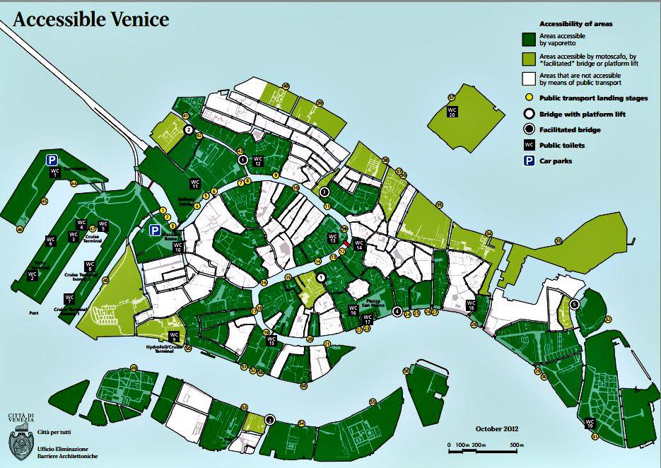 Rolstoel routes Venetie