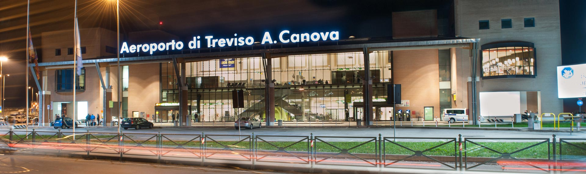 Treviso Airport in night