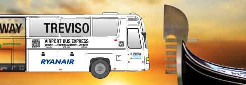 ATVO shuttle bussen van vliegveld naar Venetie