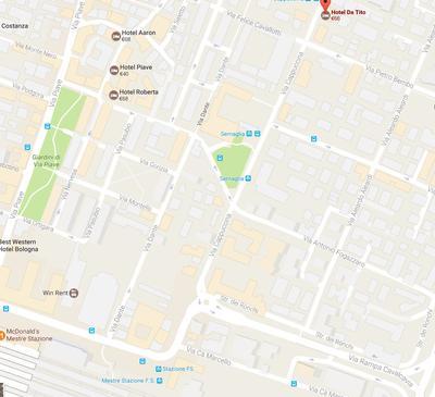 route naar hotel da Tito